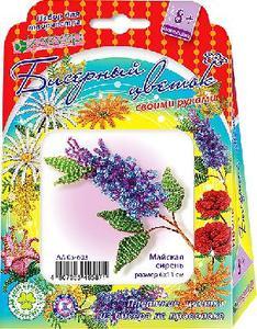 Набор для изготовления цветка из бисера «Майская сирень» арт. АА 05-603 фото