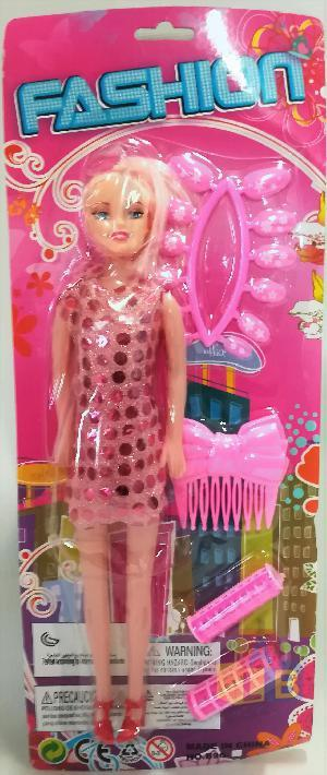 Кукла с акс-ми(расческа,зеркало,заколки) арт.B96-E21 (кор.240)Ш фото