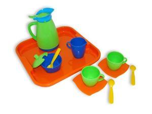 """Набор детской посуды """"Алиса"""" с подносом на 2 персоны арт.40572 (кор/12) фото"""