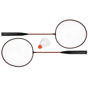Бадминтон, набор 3 предмета: 2 металлические ракетки, волан, цвета МИКС, арт.634829 фото