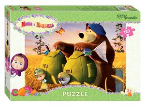 """Мозаика """"puzzle"""" 120 """"Маша и Медведь - 2"""", арт.75160 фото"""