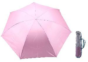 Зонт механический однотонный, R=46см, цвет розовый арт.653100 фото