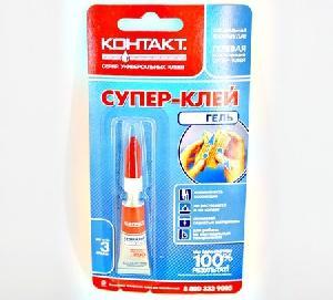 Супер-клей КОНТАКТ гель 3г,бл., КM12/360-Б03ГЛ арт.22743 фото