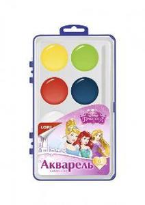 """Акварель Disney """"Принцессы"""" 6 цв.в пластике б/к арт.Акд-001 фото"""