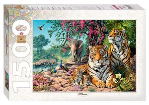 "Мозаика ""puzzle"" 1500 ""Тигры"", арт.83054 фото"