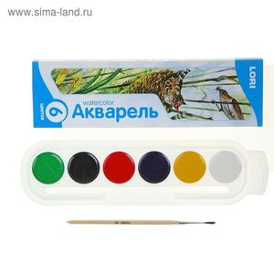 Акп-001/01 Акварель, 6 цветов, с/к, арт.Акп-001/01 фото