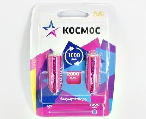 Аккумулятор КОСМОС R6 NI-MH 2800 мАч 2BL арт.КОСR6NIMH2800MAH2BL фото