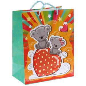 """Пакет подарочный глянцевый мишка """"Играем вместе"""", арт.CLRBG-BEAR3-02 фото"""