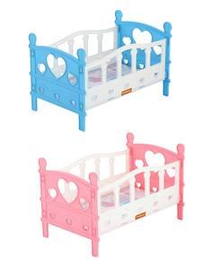 Кроватка сборная для кукол №2 (5 эл-тов) в пакете арт.62048 (кор.14) фото