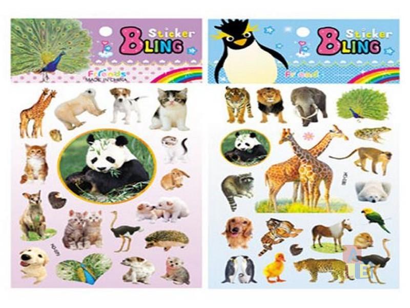 Набор наклеек Животные в ассортименте в пак., арт.43055 фото
