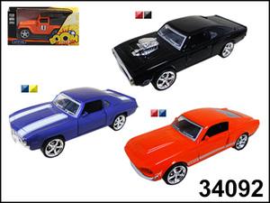 """маш """"HIGHWAY MUSCLE CAR"""" со светом фар, асс 1:32 арт.34092 фото"""
