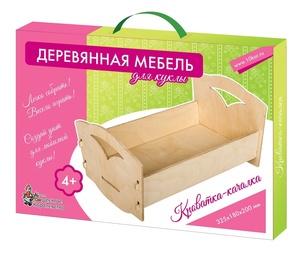 Мебель деревянная для куклы. Кроватка-качалка (большая), арт.01904 фото