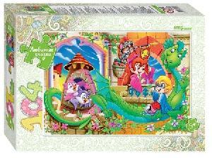 """Мозаика """"puzzle"""" 104 """"Весёлые волшебники"""" (Любимые сказки), арт.82032 фото"""
