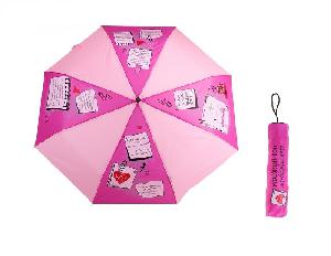 """Зонт раскладной механич. в чехле """"Для прогулок под дождём"""", d=108см арт.662816 фото"""