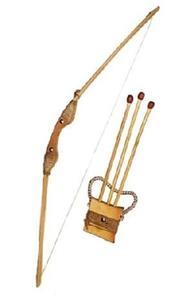 Игрушка дер. Лук 55см чехол и 3 стрелы арт.Д171874у фото