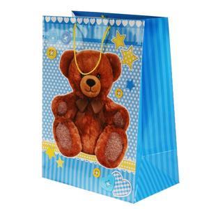 """Пакет подарочный глянцевый мишка  """"Играем вместе"""", арт.CLRBG-BEAR3-03 фото"""
