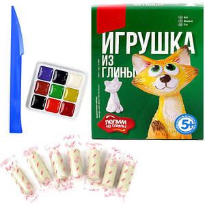 """Игрушка из глины """"Кот"""", арт.Гл-004 фото"""