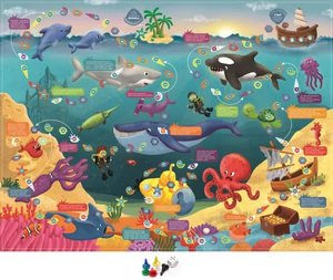 """Игра настольная.Ходилка """"Подводные приключения"""" арт.01020 фото"""