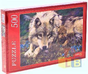 Пазл 500 эл. Волчица и волчок арт. АЛ500-7011 фото