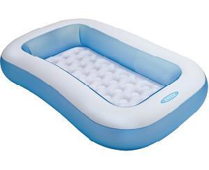 Прямоугольный бассейн для малышей с надувным дном, от 2лет (кор.6) арт.57403NP фото