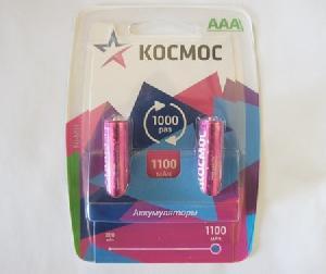 Аккумулятор КОСМОС R03 NI-MH 1100 мАч арт.КОСR03NIMH(1100MAH) фото