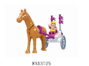 "Конструктор Ausini - Карета""Страна Чудес""с лошадью и фигуркой 44 дет.в кор, арт.35457 фото"