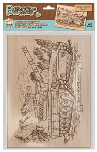 """Выжигание по дереву. Доска 1 шт """"Танк Т-80УМ1 """"Барс"""" (европодвес), арт.04128 фото"""