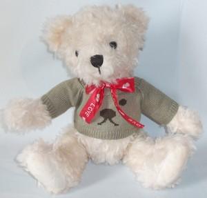 Игрушка м/н Медведь в свитере, с бантом арт.1169-15 (кор/80) фото