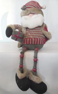 Снеговик, дед мороз  с ногами из бусинок и меховой отделкой арт.SH39-27051АВ фото