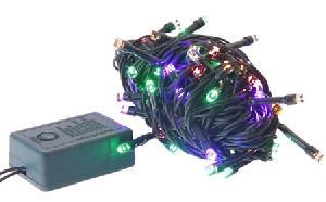 Светодиодная гирлянда КОСМОС 80 светодиодов, мультиколор,  8,8м, 8 режимов мигания, арт.KOC_GIR80LED фото