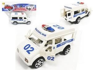 Машина инерц. Полиция микроавтобус, арт.46900 фото