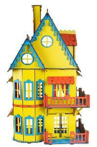 Кукольный домик желтый ХДФ арт. Д-008 фото
