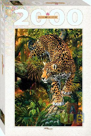 """Пазл 2000 """"Леопард"""" арт.84027 фото"""