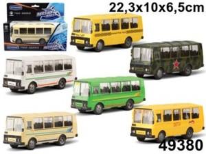"""маш """"ПАЗ-32053"""" специального назначения, ассортимент 1:43, арт.49380 фото"""