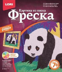 """Фреска. Картина из песка """"Большая панда"""" арт.Кп-032 фото"""