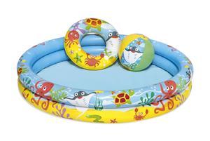 Набор: надувной бассейн + круг +  мяч, 122 х 20 см, 137 л, арт.51124 фото