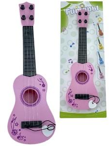 Гитара музыкальная в ассортименте цветная на карт., арт.47621 фото