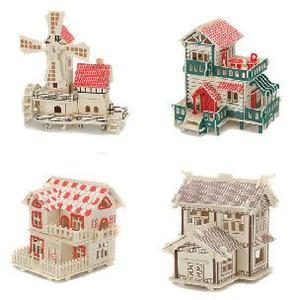 Сборная модель Дом (дерев.) арт.2013А-9 (кор.6) фото