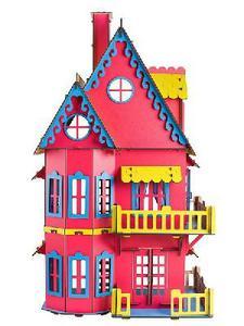 Кукольный домик розовый ХДФ арт. Д-009 фото