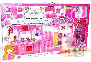 Набор мебели с куклой арт.668-8В (кор.6) фото