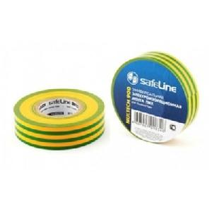 Изолента Safelint 15/10 желто-зеленый, арт.10256 фото