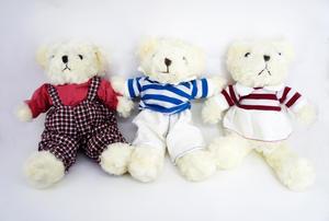 Игрушка м/н Медведь в одежде арт.1169-24 (кор/240) фото
