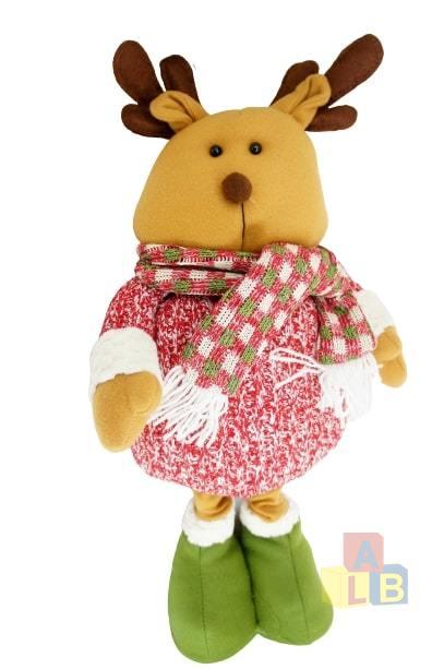 Игрушка мягкая новогодняя(снеговик,дед мороз,олень телескопические ноги 81*34см) арт.0169 фото