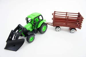Машина инерционная - Фермерский трактор с прицепом HarVest в ассортименте под пленкой, арт.46714 фото