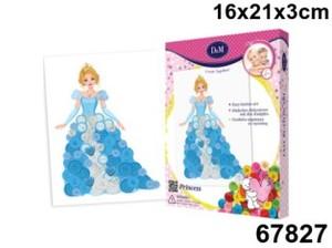 Создаем картину из пуговиц Принцесса, арт.67827 фото