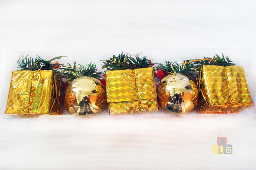 Набор елочных игрушек ассорти арт. JL16-196 (кор/176) фото