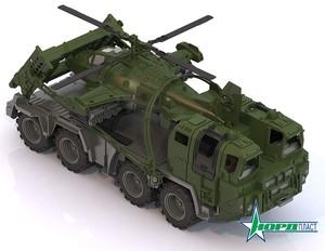 """Военный тягач """"Щит"""" с вертолетом арт.256 (кор.4) фото"""