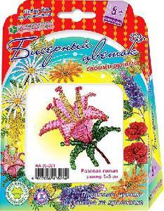 Набор для изготовления цветка из бисера «Розовая лилия» арт. АА 05-601  фото
