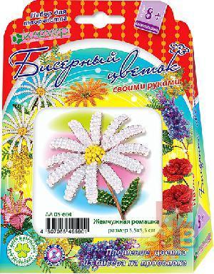 Набор для изготовления цветка из бисера «Жемчужная ромашка» арт. АА 05-604 фото