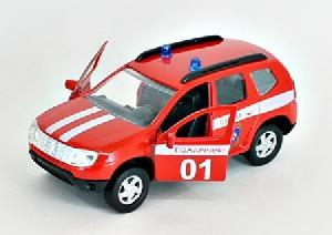 """маш """"RENAULT DUSTER"""" пожарная охрана 1:38 арт.49493 фото"""
